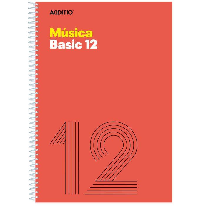 Cuaderno musica basic 12  pentagrama 10mm