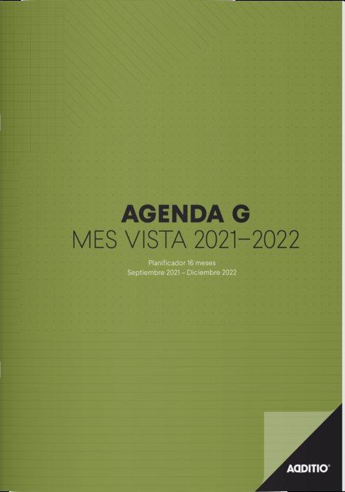 Agenda escolar 16 meses g mes vista p182 2021-2022