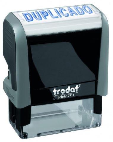 Sello automatico duplicado tinta azul