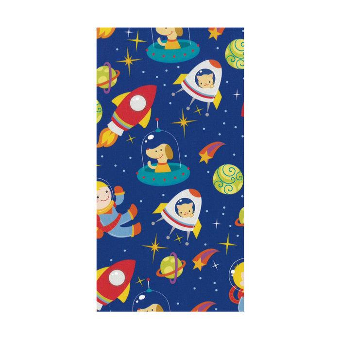 Papel regalo bobina 31cm 2kg infantil espacio azul