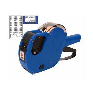 Etiquetadora pryse mx-2616 azul 2 lineas + etiquetas naranj
