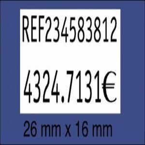 Rollo etiquetas 26x16 blanco removible