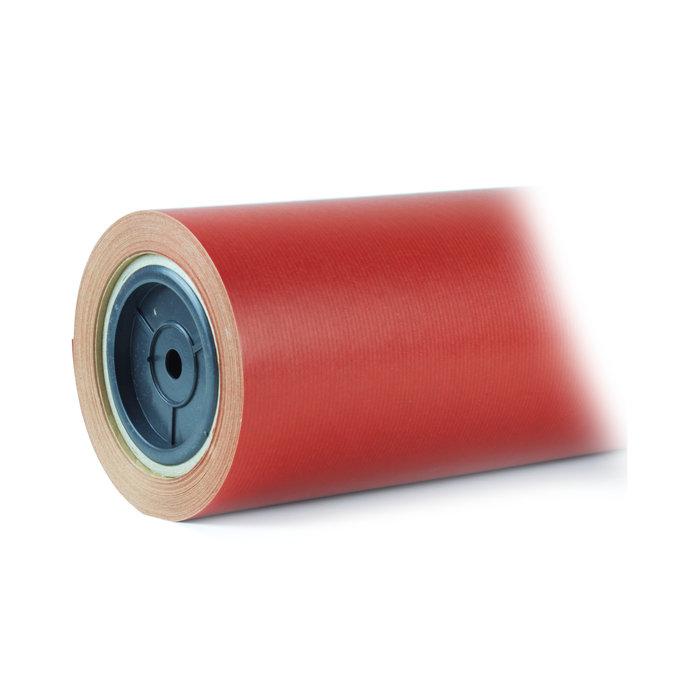 Papel regalo bobina 31cm kraft rojo