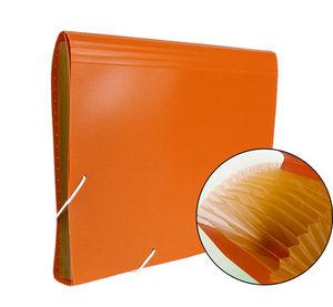 Carpeta clasificadora fuelle a4 13dpto naranja