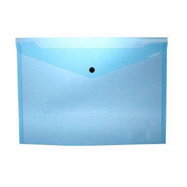 Sobre portadocumentos pp a4 con broche azul claro