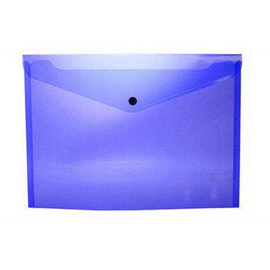 Sobre portadocumentos pp a4 con broche azul oscuro