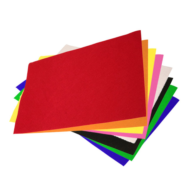 Fieltro lamina 40x60 10 colores surtidos