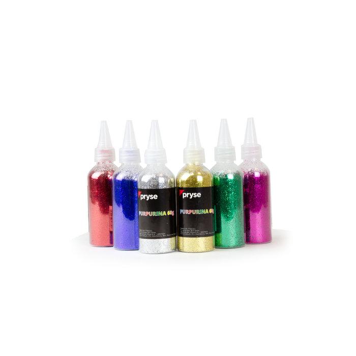 Expositor 6u bote aplicador purpurina 60g colores surtidos