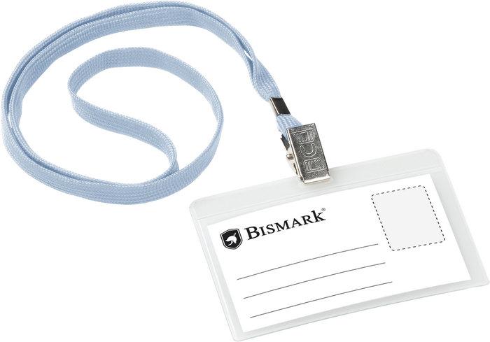 Tarjeta de identificacion con cordon