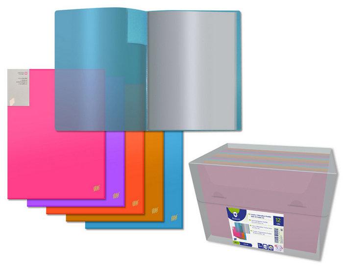 Carpeta pp neon a4 40 fundas lomo personalizable