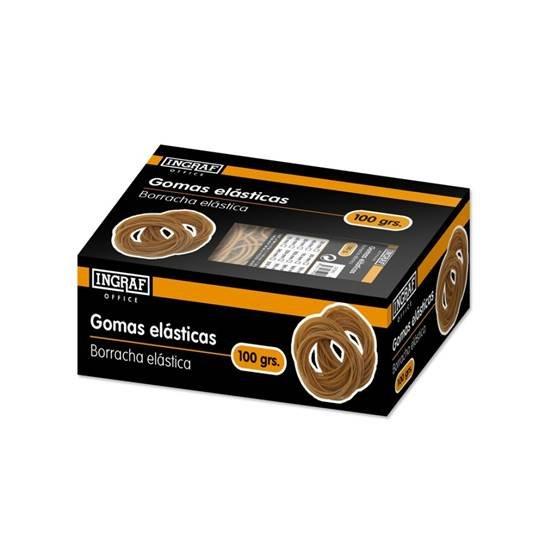 Gomas elasticas ingraf office caja 100 gr nº20