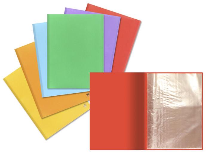Carpeta a4 10 fundas hiperflex opaco colores surtidos