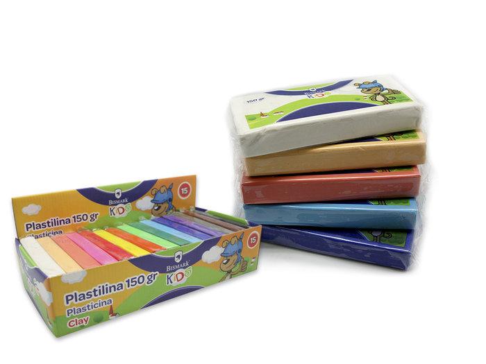 Expositor 15u plastilina barra 150grs colores basicos