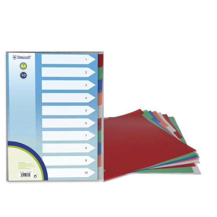 Separadores carton a4 10 departamentos bismark