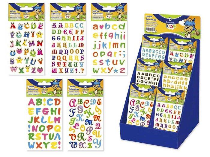 Etiquetas adhesivas letras