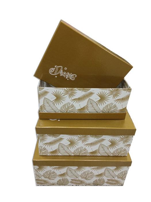 Juego 4 cajas con asas metal dreams collection