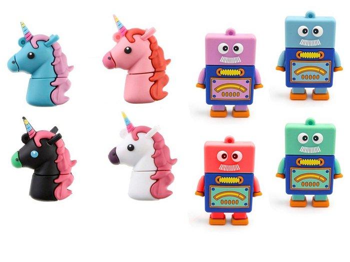 Memoria usb 16gb unicornios y robots
