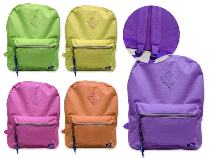 Mochila neon pastel con bolsillo colores surtido