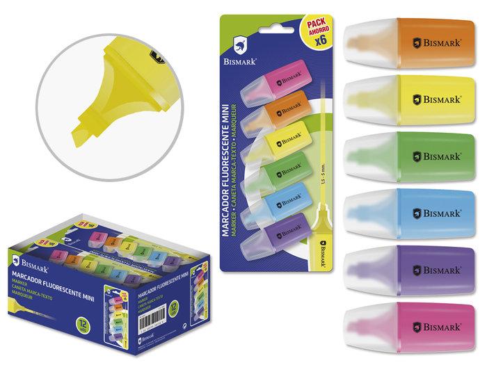 Mini rotulador fluorescente bismark neon 6u blister
