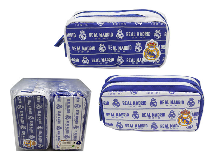Portatodo rectangular 2 cremalleras real madrid