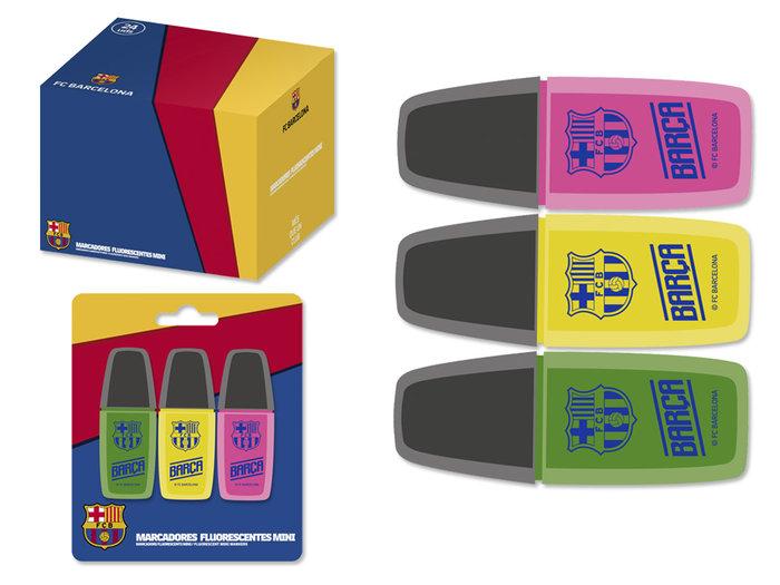 Set 3 mini marcadores fluorescentes barcelona