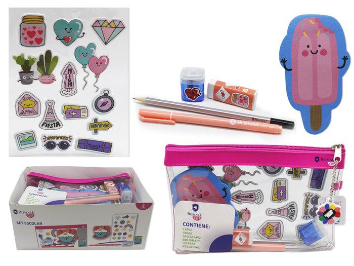 Set escolar materiales divertido