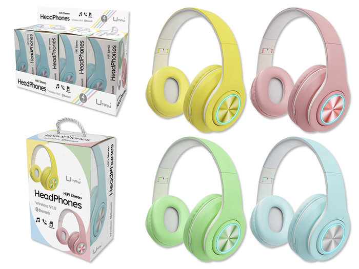 Auriculares head bluetooth umay pastel little fun