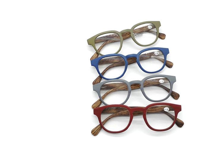 Expositor 24 gafas lectura umay caballero patilla madera