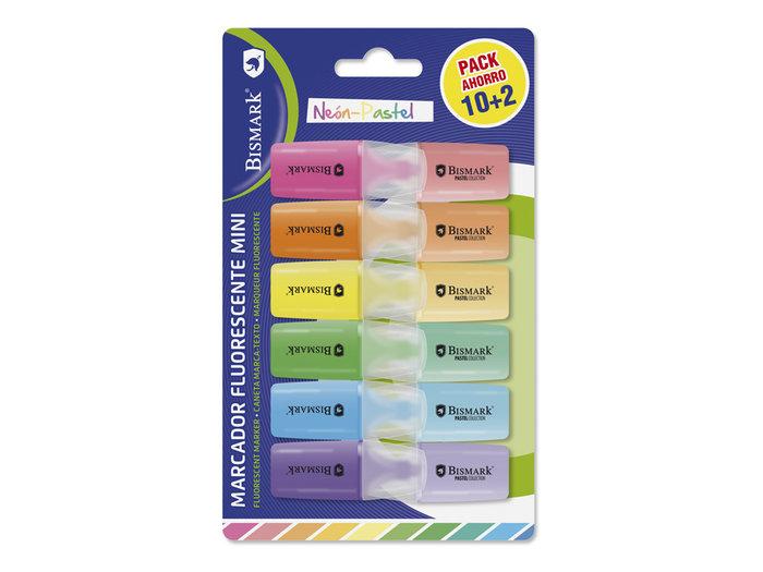 Mini rotulador bismark neon-pastel 12u