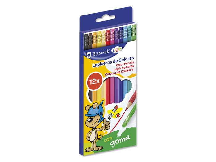 Lapices 12 colores con goma