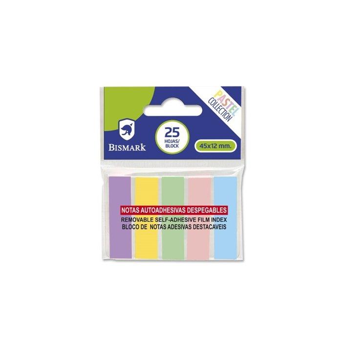 Banderitas adhesivas bismark 5 colores pasteles