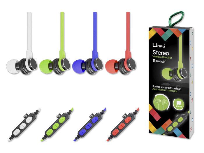 Auriculares bluetooth con microfono let´s go