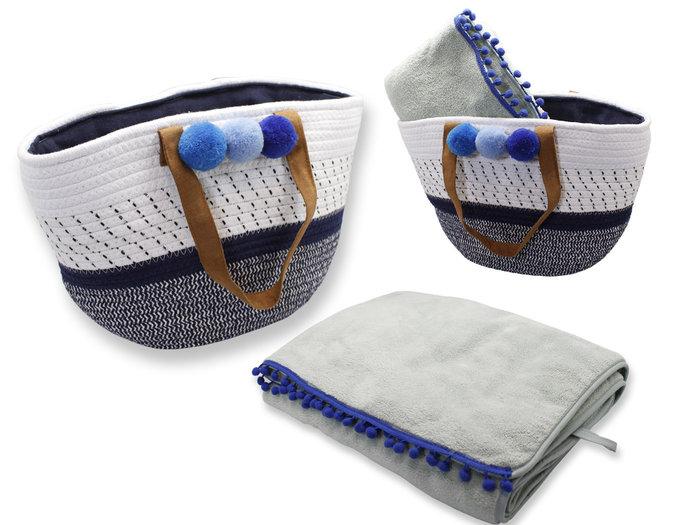 Set capazo algodon y toalla mundaka