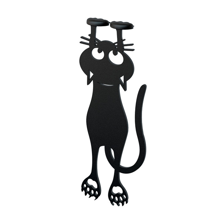 Marcapaginas negro curious cat