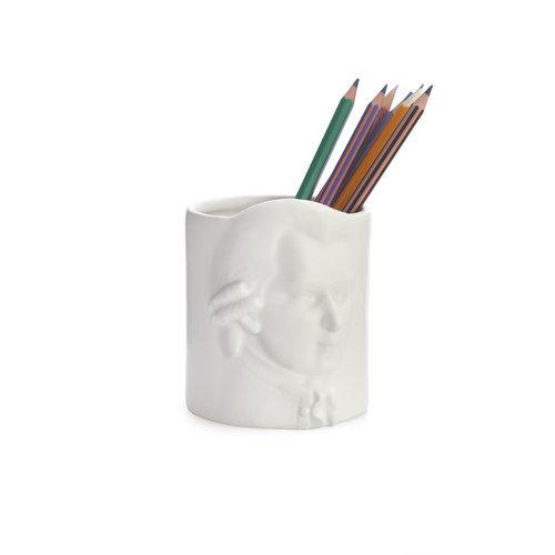 Portalapices  ceramica blanco amadeus mozart