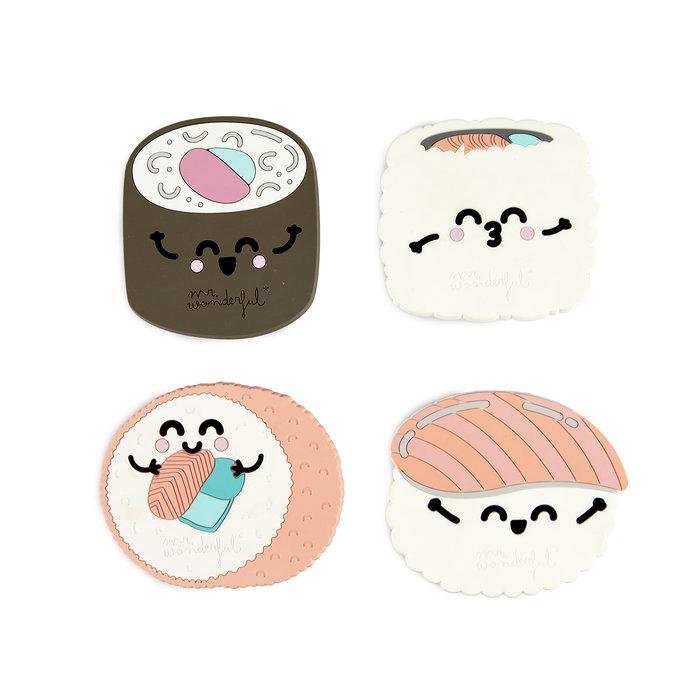 Posavasos  mr.wonderful sushi  x4  pvc