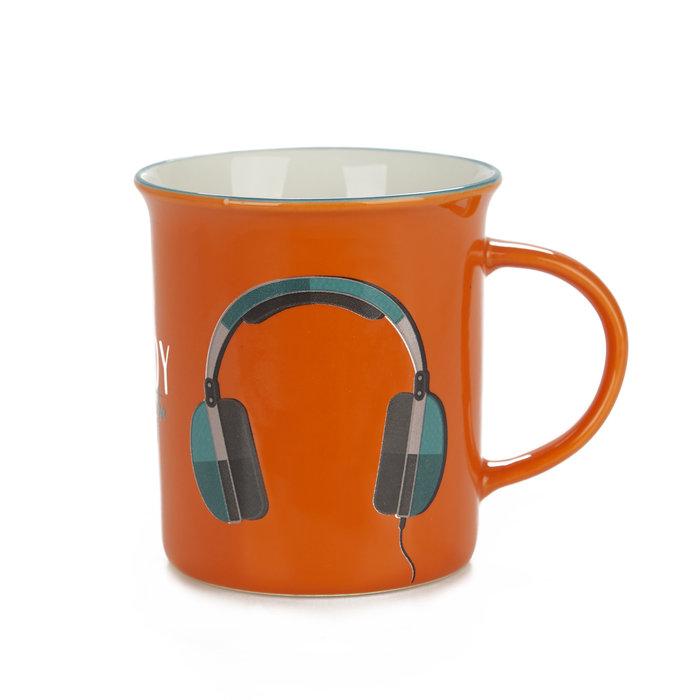 Taza ceramica naranja enjoy 312 ml