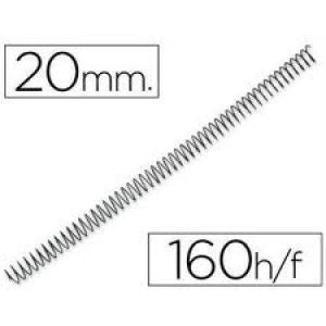 Espiral metalica 20mm negro