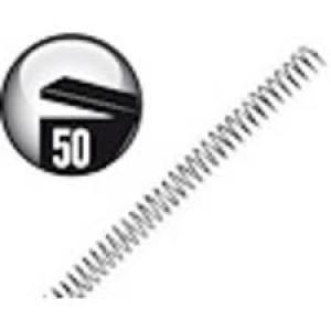 Espiral metalica 30mm negro c/50