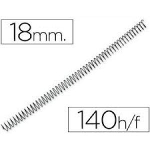 Espiral metalica 18mm negro