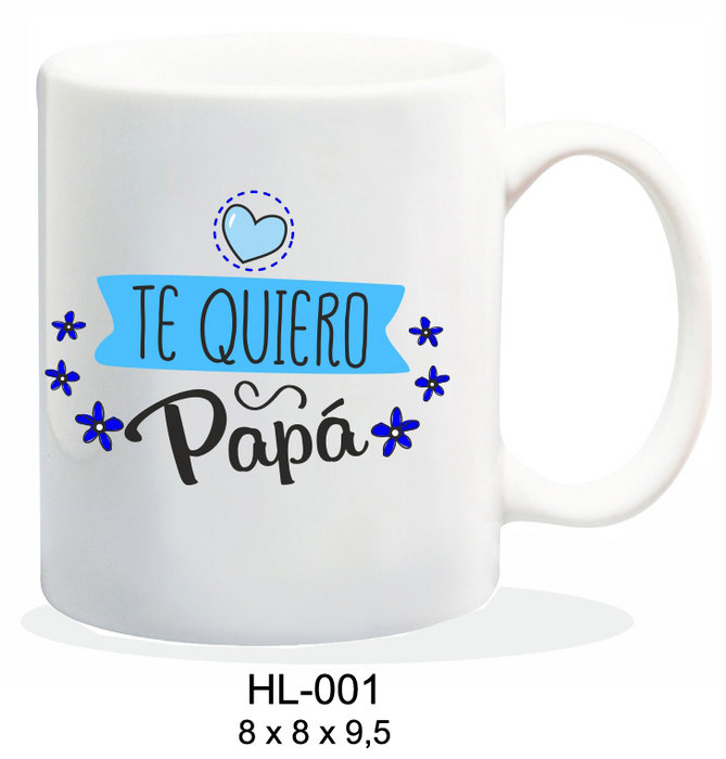 Taza ceramica 237ml mensaje te quiero papa