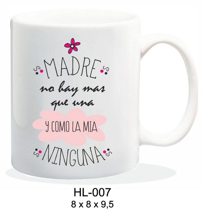 Taza ceramica 237ml mensaje madre no hay mas que una