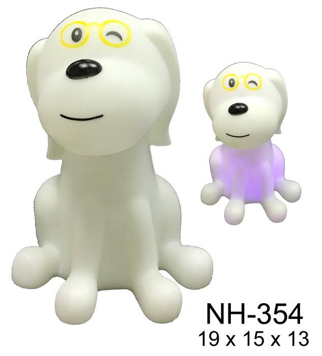 Quitamiedos luz led perro