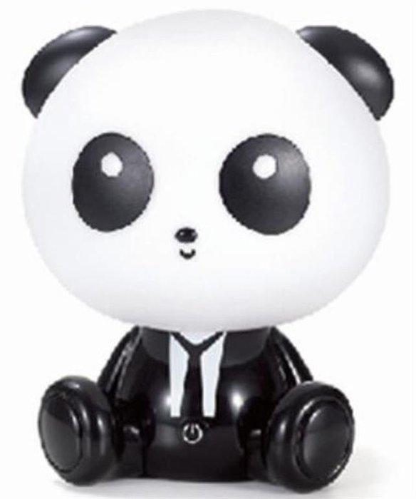 Lampara led panda c/3 niveles brillo y cable usb