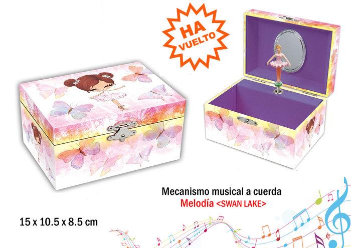 Joyero musical pequeÑo bailarina mariposas