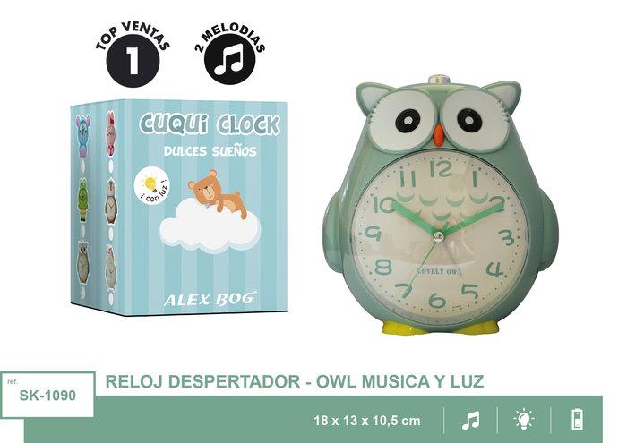 Reloj despertador con musica buho
