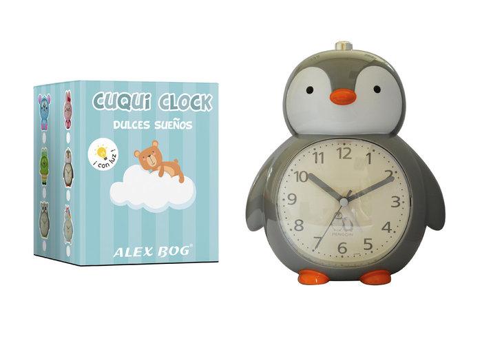 Reloj despertador con musica penguin