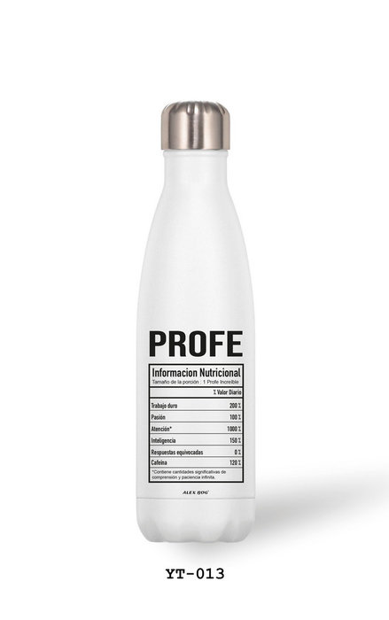 Botella aluminio 500 ml profe... inf. nutricional