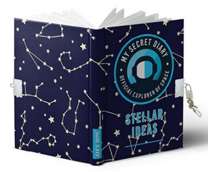 Diario tamaÑo a5 con candado stellar ideas
