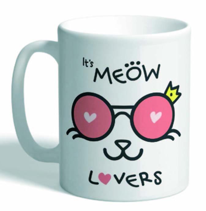 Taza mensaje it is meow lover gato